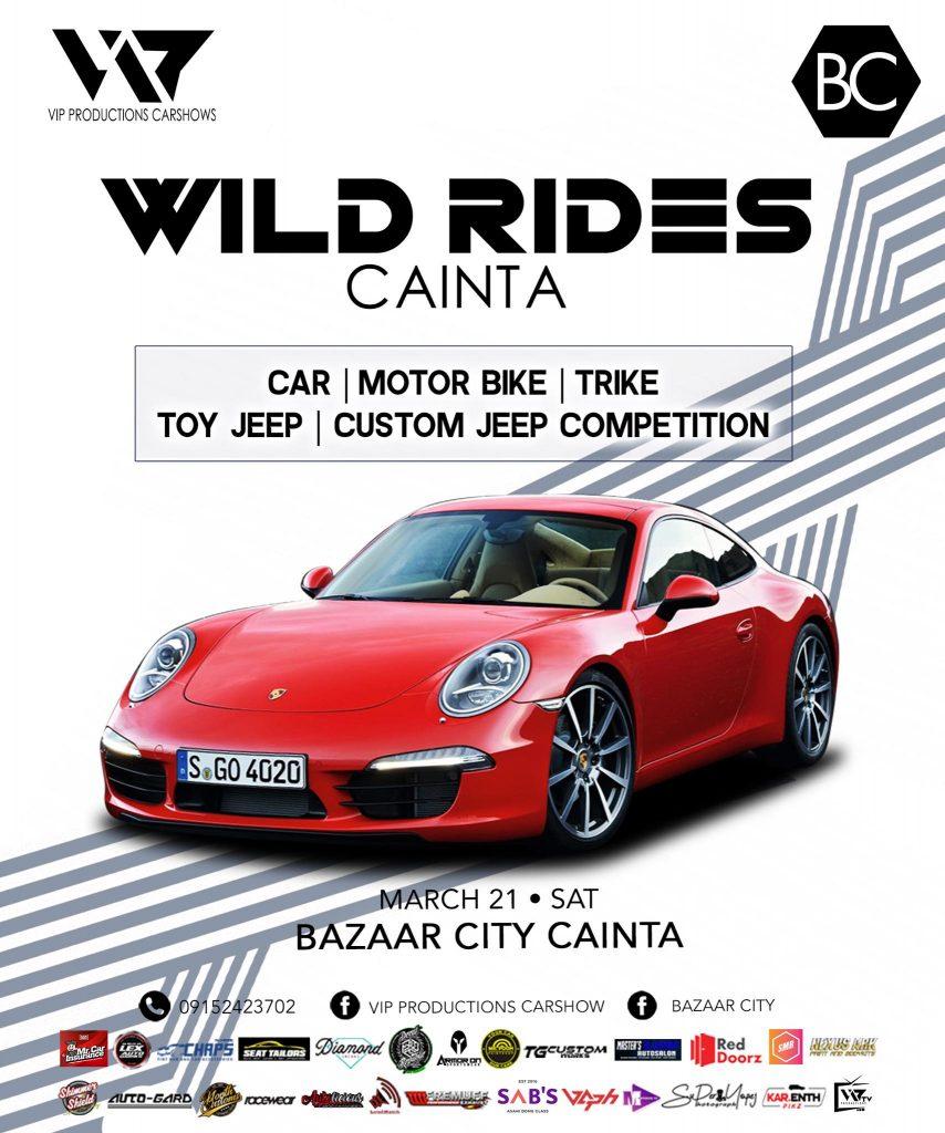 Wild Rides Cainta March 21 Sat Bazaar City Poster